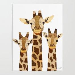 Giraffe Collage Poster