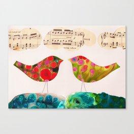 I Hear Two Birds Canvas Print