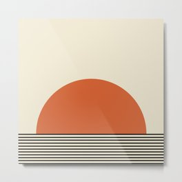 Sunrise / Sunset I - Orange & Black Metal Print