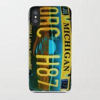 michigan iPhone & iPod Cases featuring Michigan by Vivian Fortunato