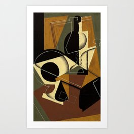 "Juan Gris ""Moulin à café et bouteille ( Coffee grinder and bottle)"" Art Print"