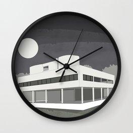 Villa Savoye / Le Corbusier ! Architectural poster! Wall Clock