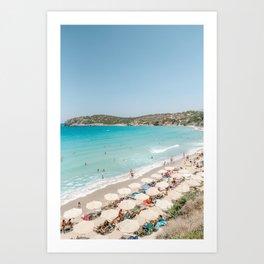 Vulisma Beach Crete, Greece   Travel Photography Print Light Colors Art Print
