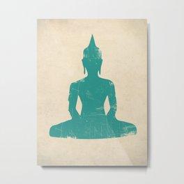 Seated Buddha Art Print Metal Print