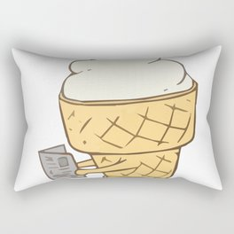 Funny Ice-cream in freetime Rectangular Pillow