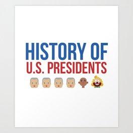 History of the US President Trump Clown Gift Art Print