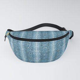 Sky Blue Snake Skin Animal Print Wild Nature Fanny Pack