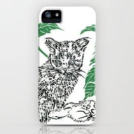 woodblock print iPhone Case
