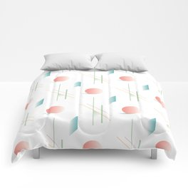 Swimming Pools and Coral Suns Comforters