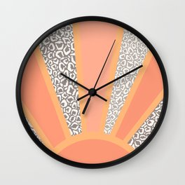 animal print sunset Wall Clock