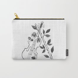 Violin, black and white Carry-All Pouch