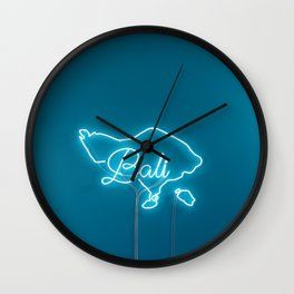 Bali Neon Sign Wall Clock