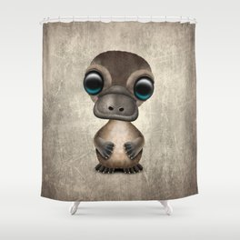 Cute Baby Platypus Shower Curtain