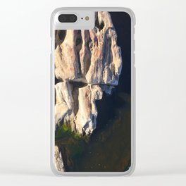 Abstract humanoid rock Clear iPhone Case