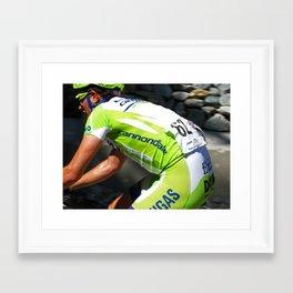 Le Green Tour De France Framed Art Print