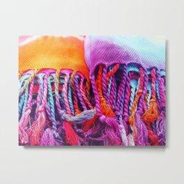 Rainbow tassels Metal Print