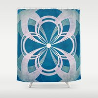 infinity Shower Curtains featuring Infinity by Enrico Guarnieri 'Ico-dY'