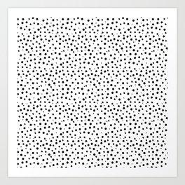 Tiny Doodle Dots Art Print