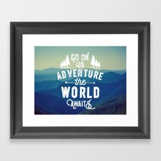 Adventure Quote Framed Art Print