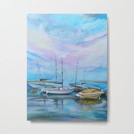 Morning boat pier Metal Print