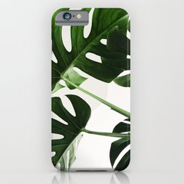 Monsterra Green Plant Leaves Photography iPhone Case