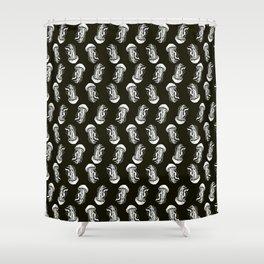 Jellyfish (black) Shower Curtain