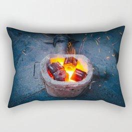 controlled burn Rectangular Pillow