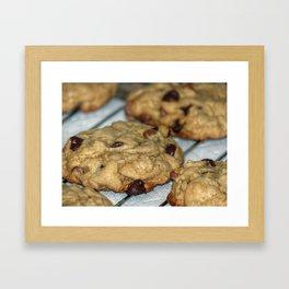 Orange Chocolate Chip Cookies Framed Art Print