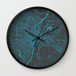 Saint Louis Map Wall Clock
