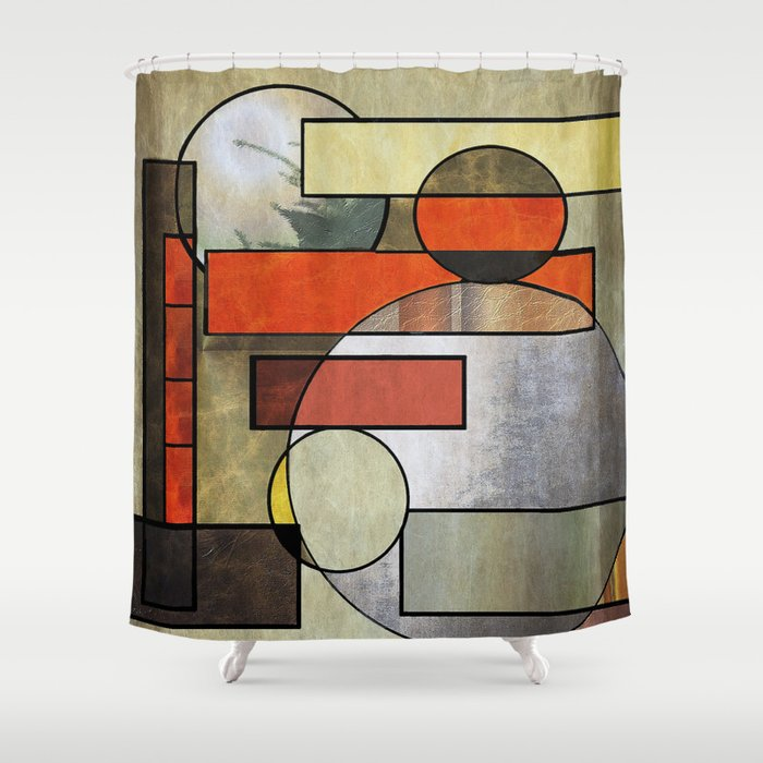 Falling Industrial Shower Curtain By Sandandchi