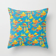 Abstract Boats 1 Throw Pillow