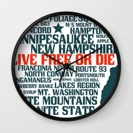 New Hampshire Live Free or Die Wall Clock