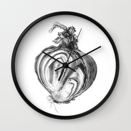 Withered Onion Wall Clock