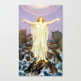 """Evelyn De Morgan """"S.O.S."""" Canvas Print"""