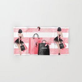 Fashion girl shopping Hand & Bath Towel