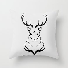 Pathfinder (Gray) Throw Pillow