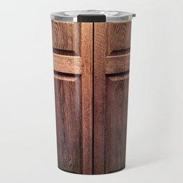 Illuminated Oak Door Travel Mug