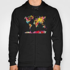 world map color art Hoody
