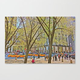 Taxis on 5th Avenue, NYC Canvas Print
