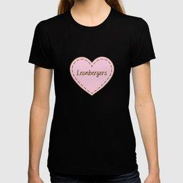 I Love Leonbergers Simple Heart Design T-shirt