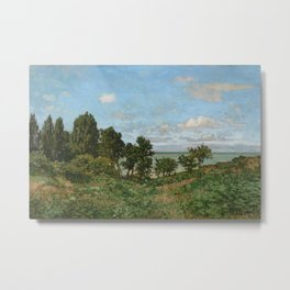 Claude Monet - Coastal landscape Metal Print
