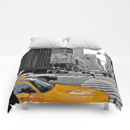 NYC Yellow Cabs Times Square - USA Comforters