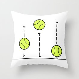 Bouncing Balls - Tennis love Throw Pillow