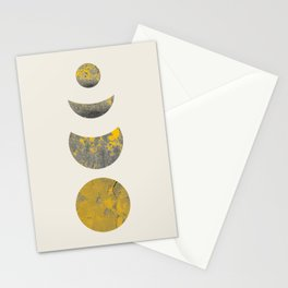 Abstraction_Lunar_Eclipse_Minimalism_001 Stationery Cards