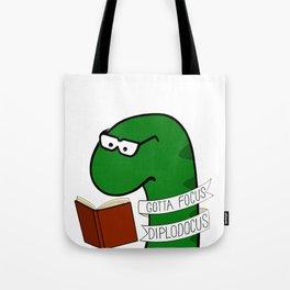 Gotta Focus Diplodocus Tote Bag