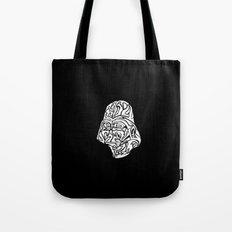 Darth Vader [White on Black] Tote Bag