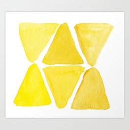 Sunny Triangles Art Print