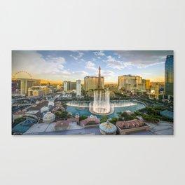 Las Vegas Strip featuring the Bellagio Fountain Canvas Print