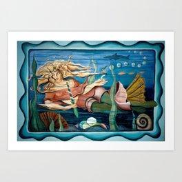 Water Nymph and Mermaid Art Print
