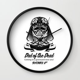 Dad of the Dead Wall Clock